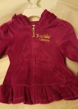 Juicy Couture Girl 18 Months Velour 2 Piece Sweat Suit- Fuchsia / Purple - NWT