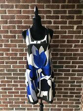 Club Monaco Blue Ivory Abstract Strapless Dress Size 6 Woman's Lined