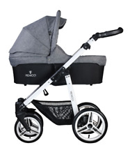Venicci 2 in 1 Pushchair - Denim Green on Black Chassis