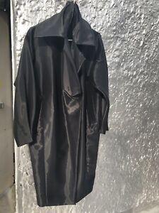 DONNA KARAN Black label beautiful cocoon silk lightweight rain wind coat