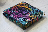 Tie Dye Elephant Indian Mandala Floor Decorate Square Pillow Cushion Cover Throw