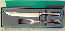 TOWLE 2 PIECE CARVING SET NON-BEADED STAINLESS STEEL 18/8 MIB KNIFE & FORK