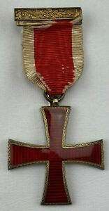 Silver Masonic Knights Templar Medal ?