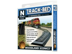 NEW Woodland N Scale Train Tracks Track-Bed Roll 24 ST1475