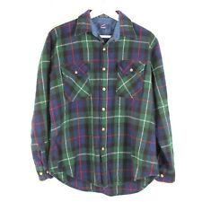 Vintage Briggs Wool Shirt Mens large in Green Plaid