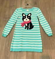 Gymboree Girls' Cotton Sweater Dress Snowflake Fun Puppy , Size 10
