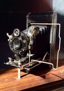Rare Antique Vintage CONTESSA-NETTEL Cocarette Folding Film Camera,German,1920s