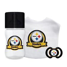 Pittsburgh Steelers Baby Set - Bottle Bib Pacifier Licensed NFL BPA Free