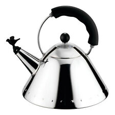 Alessi Michael Graves Kettle with Bird Whistle Black