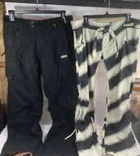 WOMENS 686 3-1 Smarty Cargo Pants Ski Snowboard Snow Tech W/Pockets Large Black