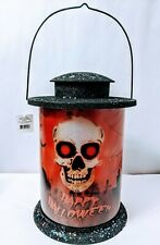 Skull  2303120 B/O Lighted Lantern Halloween Scene Table Decoration