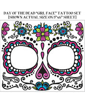 Day Of The Dead De Los Muertos Fake Face Tattoo Kit Adult Accessory