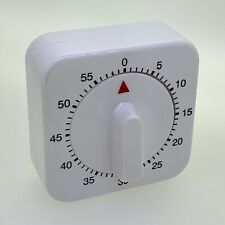 Wind Up Analog Mechanical Egg Timer - 60 Minute Count Down - White