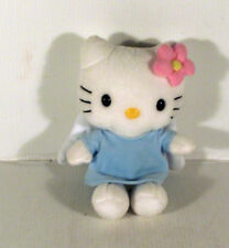 "6"" Blue Angel Hello Kitty Soft Toy TY BEANIES"