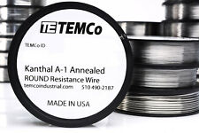 TEMCo Flat Ribbon Kanthal A1 Wire 0.5mm x 0.1mm 1000 Ft Resistance A-1