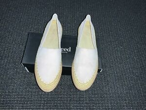 Seed Elle Leather Espadrille New In Box Size 41