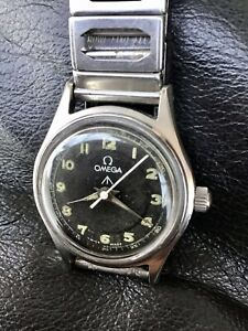 Omega WW2 Military Issue Watch Rare 1940's Stainless Steel