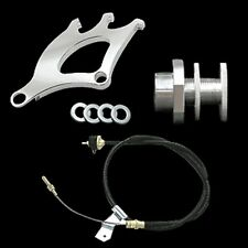 79-95 MUSTANG CLUTCH CABLE QUAD FIREWALL ADJ 3pc KIT