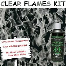 HYDROGRAPHIC FILM WATER TRANSFER HYDRO DIP 6OZ. ACTIVATOR CLEAR FLAMES DIP KIT