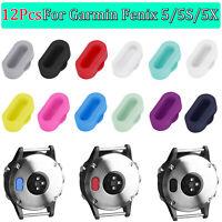 12X Silicone Dustproof Charger Port Protector Dust Plug For Garmin Fenix 5/ hv2n