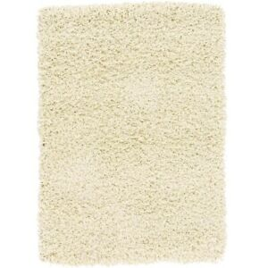 Deluxe Plush Ivory Thick Pile Non-Shedding Nonslip Super Soft Shag Room Area Rug