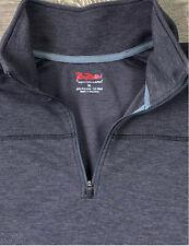 RailRiders 1/4 Zip Pullover Shirt Mens XL Western Outdoors Gray Poly Wool Blend