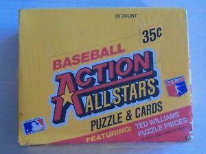 1984 DONRUSS BASEBALL ACTION ALL-STARS Factory Sealed Box 36 Packs