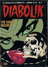 DIABOLIK XIX #7 - Italian Comic Digest (Il Giallo a Fumetti) - 1980