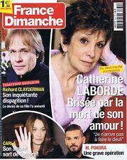 France dimanche n° 3632 du 04/04/2016 Catherine Laborde Richard Clayderman
