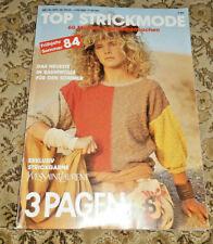 3 Pagen von 1984  60 Modelle Stricken  Strickheft Handarbeitsheft