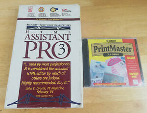 Retro Windows 95/98 HTML Assistant Pro 3 + Printmaster 7.0 Demo Software