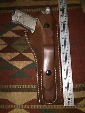 "Ruger Mk Mark II III 3 IV 4 Leather Holster w Magazine Pouch 6 7/8"" Barrel Brown"