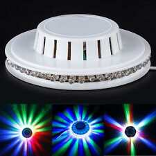 LED RGB Lamp Effect Auto Sunflower Rotating Party Stage Club Disco Light 1pc