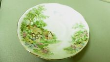 Wayside Roslyn Fine Bone China Saucer Made in England Cottage & Flowers
