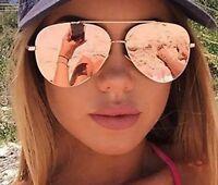 Aviator Sunglasses Women Oversized Top Fashion Flat Lens Mirror Aviation Sun