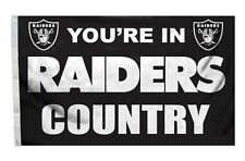 Oakland Raiders 3x5 Country Design Flag [New] Nfl Banner Sign Fan Wall House