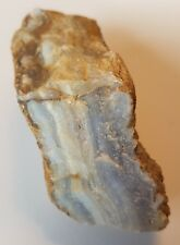 259g Rough African Blue Agate Mineral Crystal Specimen Healing Quartz Gemstone.