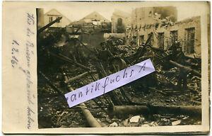 Foto :  von Russen stark zerstörte Eisenbahn Fabrik in Bialystok im 1.WK