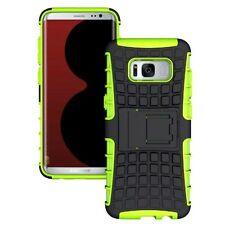 Etui Hybride 2 Pièces Extérieur Sac Vert Housse pour Samsung Galaxy S8 plus