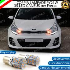 COPPIA LAMPADE PY21W BAU15S CANBUS 35 LED KIA RIO MK3 III FRECCE ANTERIORI