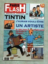 Carte Postale Tintin PASTICHE - PARIS FLASH. J'aurais voulu être un artiste