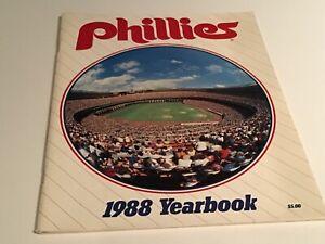 1988  Phila. Phillies Yearbook   Hayes-Schmidt-Rawley-Bedrosian    Near mint