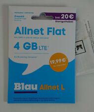 O2 Blau LTE Prepaid Simkarte 016X 666 77 40 Teufel+Engel+Kreuz Allnet Flat L 4GB