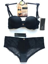 Bra Strapless 34B & Knickers 12 M&S Rosie for Autograph Black RRP £37.50 BNWT