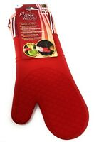 Heat Resistant Oven and Barbecue Glove Kitchen Accessory Red Flame Wizard
