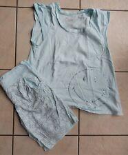 ETAM Pyjama turquoise Smiley 36