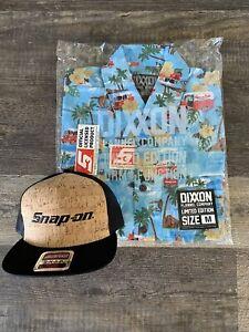 NEW Snap On Tools Dixxon Limited Edition Men's Hawaiian Short Sleeve Shirt Set