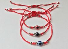 3 PCS SET BRACELET - Lucky Red String Braided Kabbalah Evil Eye Protection Charm