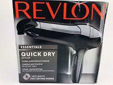 Revlon Essentials Quick Dry Styler Hair Blower Dryer 1875W RV408 New Black