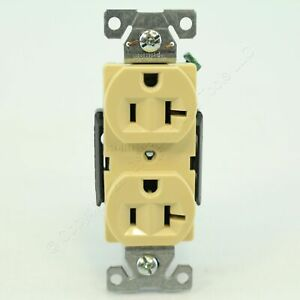 Cooper Ivory Construction 20A 125V Grounding Compact Duplex Receptacle 5362CV